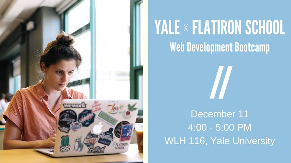 Yale X Flatiron School Web Development Bootcamp Info Session