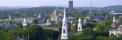 A picture of the Yale skyline